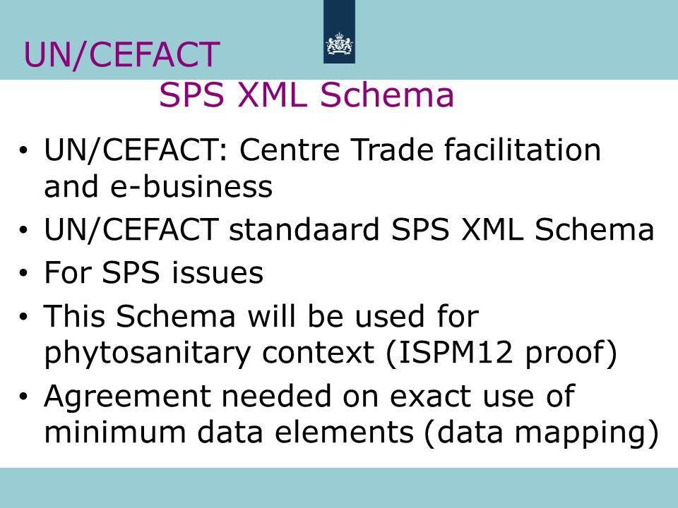 UN/CEFACT SPS XML Schema