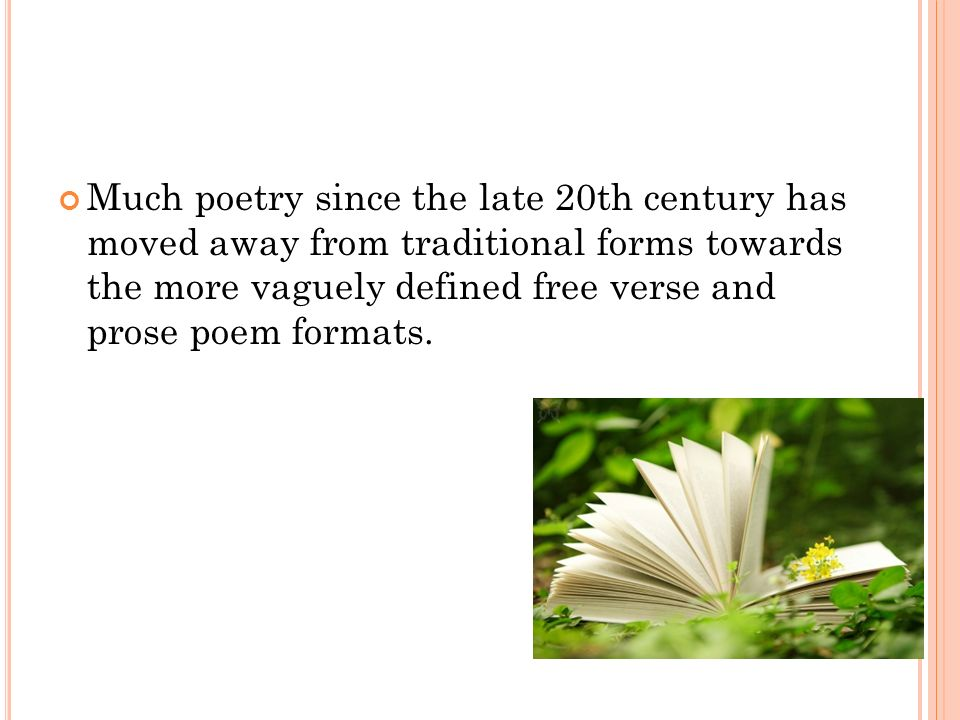 how to write a free verse poem ppt
