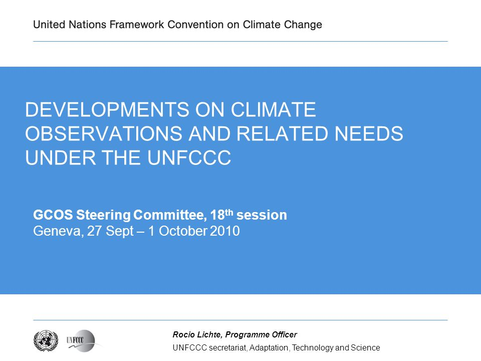 Trend of international discussions on the UNFCCC