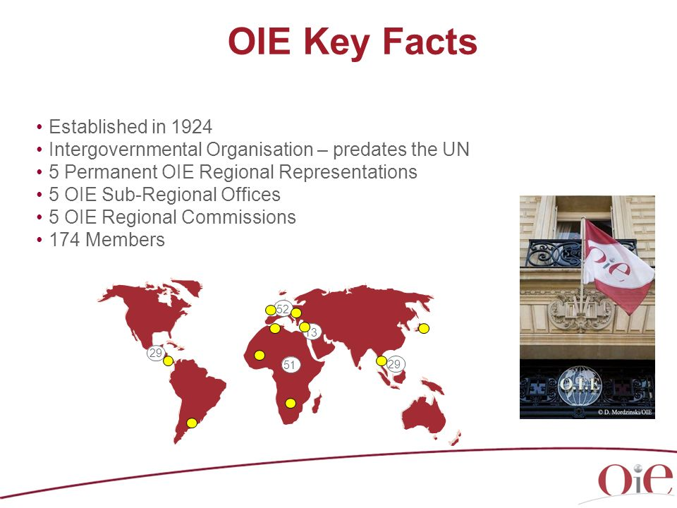 OIE Key Facts Established in 1924