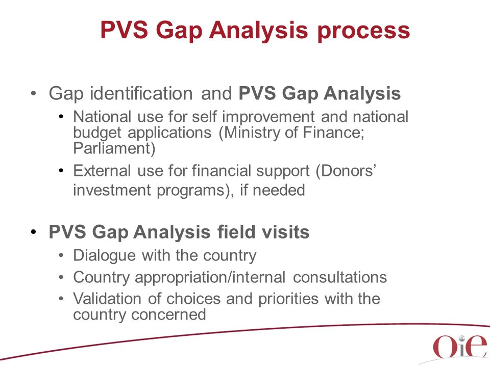 PVS Gap Analysis process