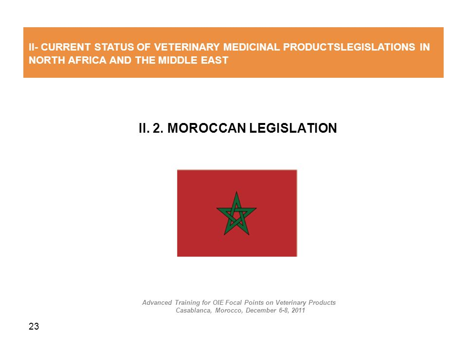 II. 2. MOROCCAN LEGISLATION