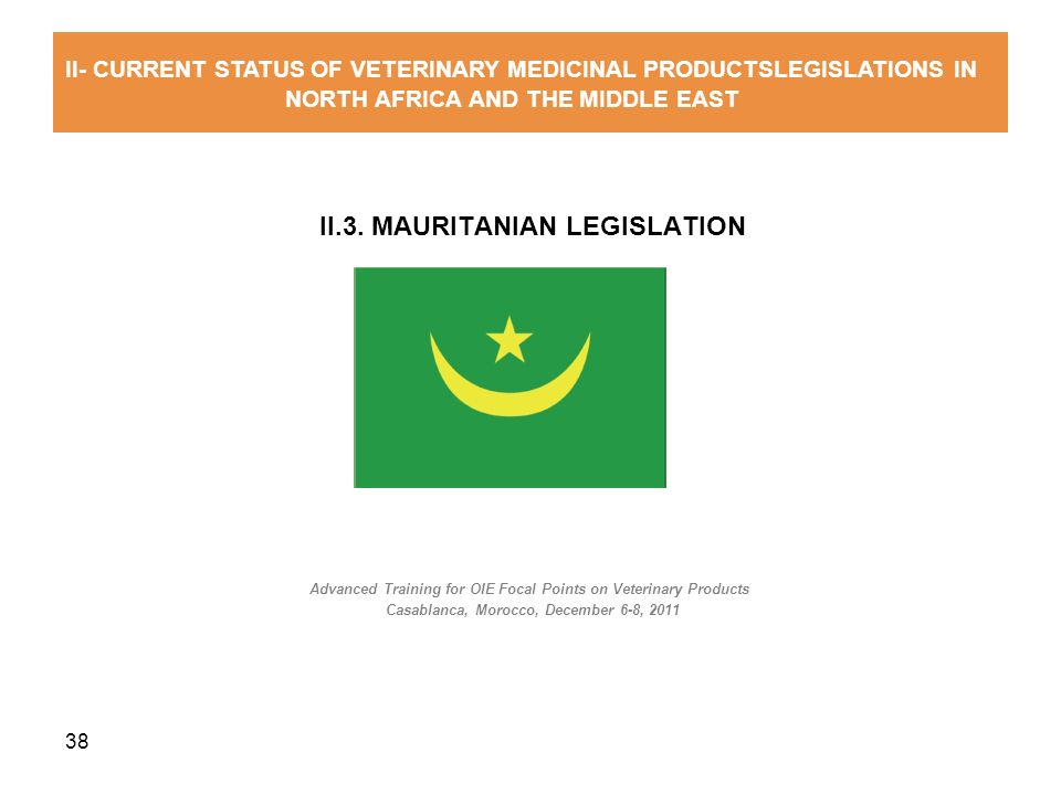 II.3. MAURITANIAN LEGISLATION