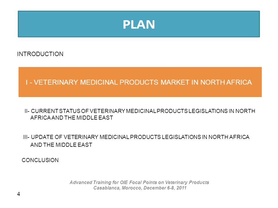 I - VETERINARY MEDICINAL PRODUCTS MARKET IN NORTH AFRICA