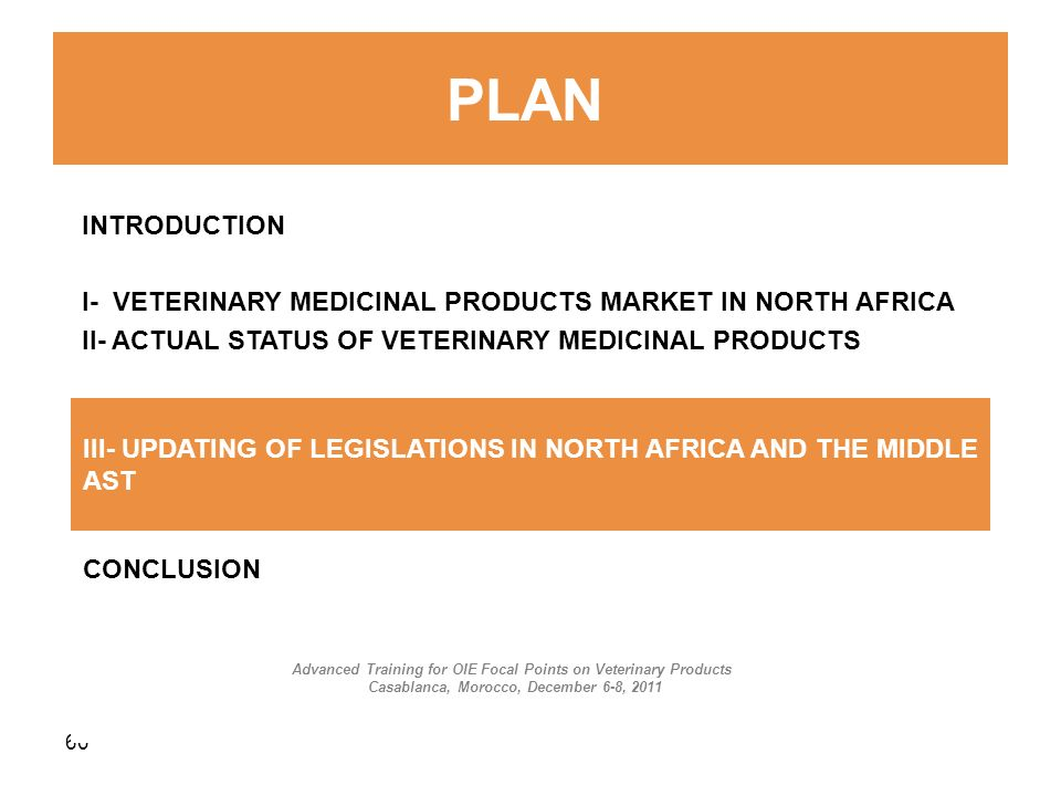 I- VETERINARY MEDICINAL PRODUCTS MARKET IN NORTH AFRICA