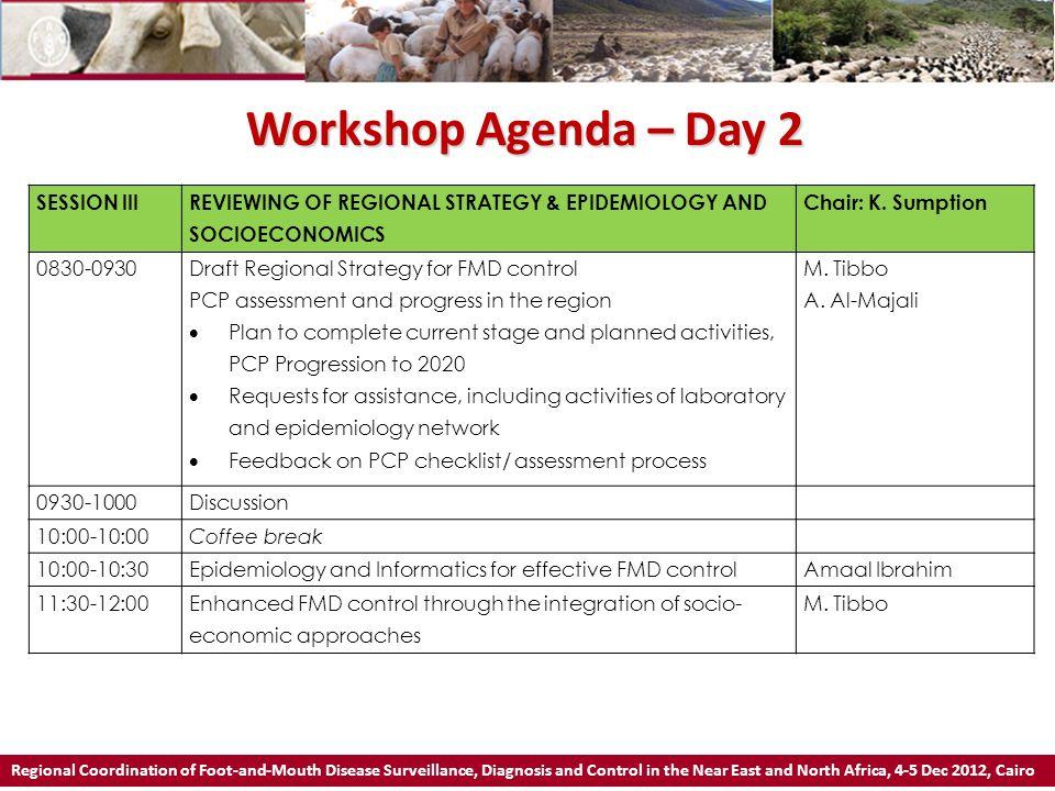 Workshop Agenda – Day 2 SESSION III