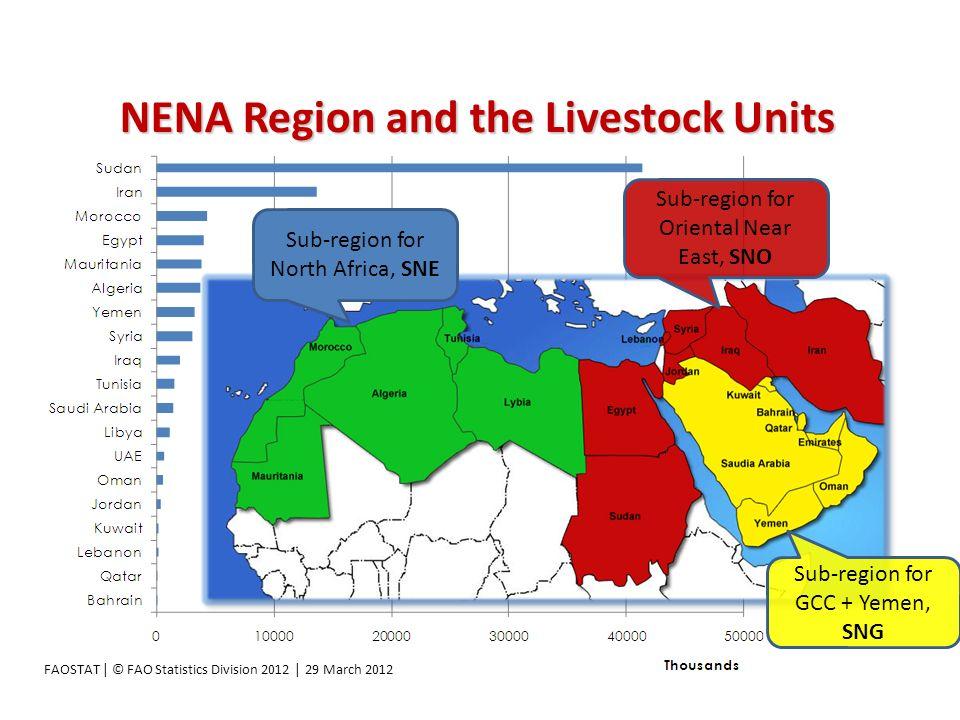 NENA Region and the Livestock Units