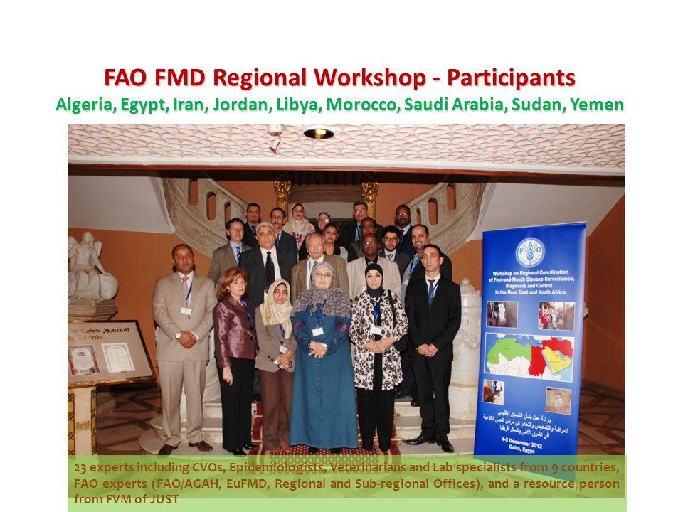 FAO FMD Regional Workshop - Participants