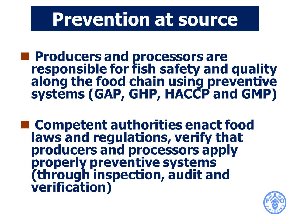 Prevention at source