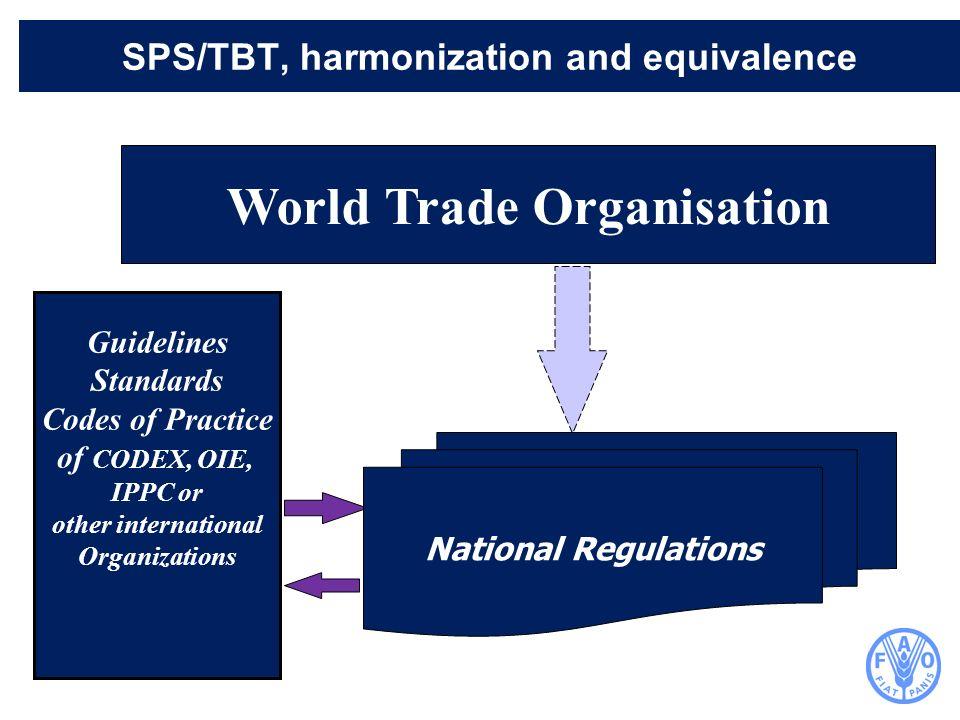 SPS/TBT, harmonization and equivalence