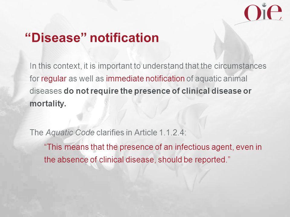 Disease notification