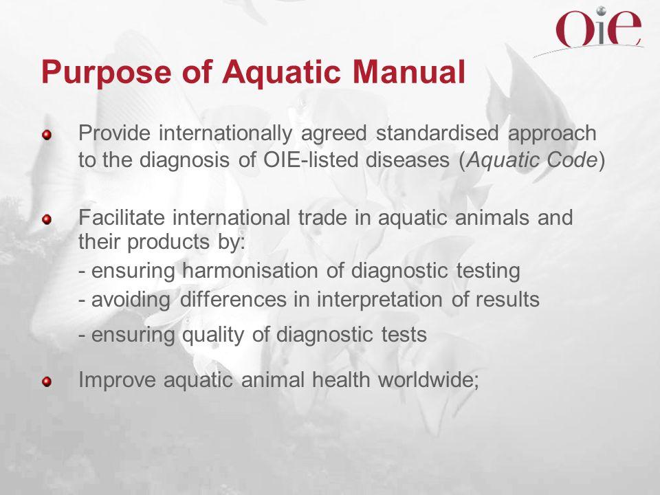 Purpose of Aquatic Manual