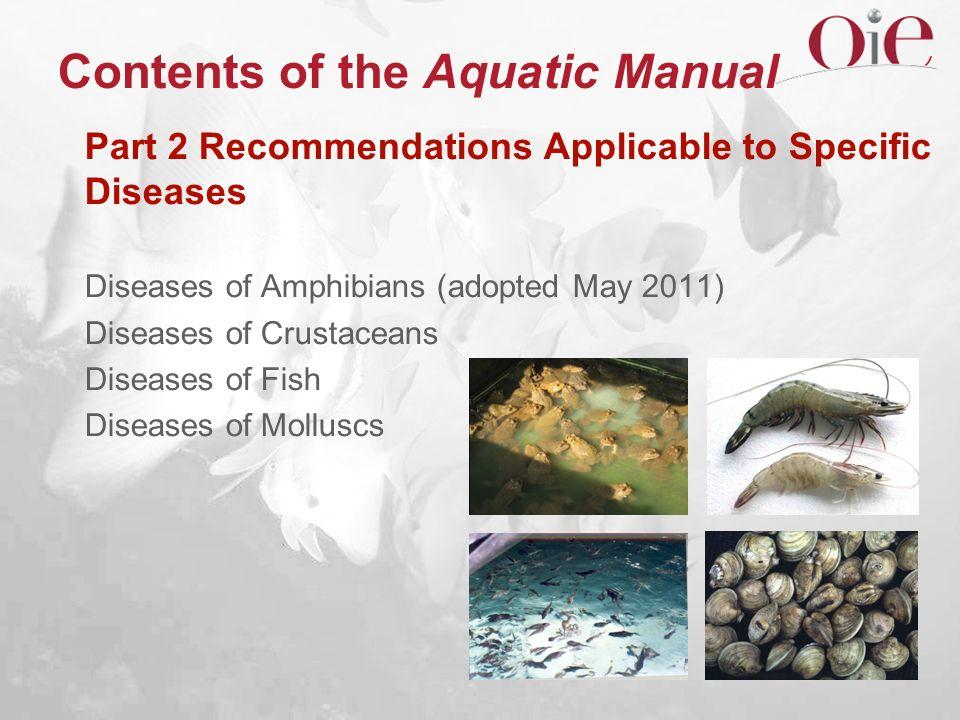 Contents of the Aquatic Manual