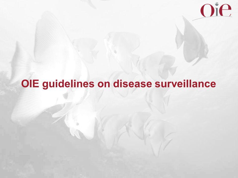 OIE guidelines on disease surveillance