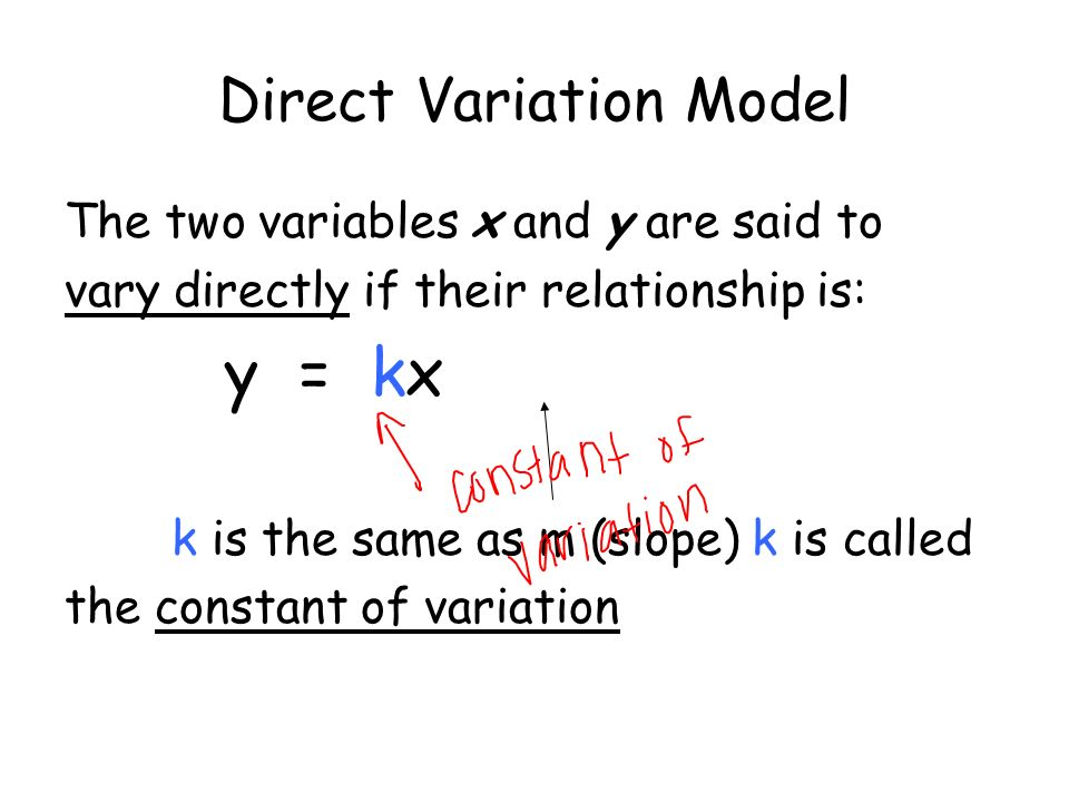 how to solve direct variation
