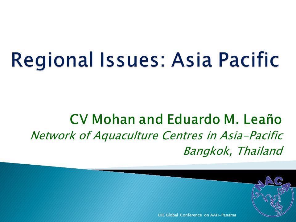 Regional Issues: Asia Pacific