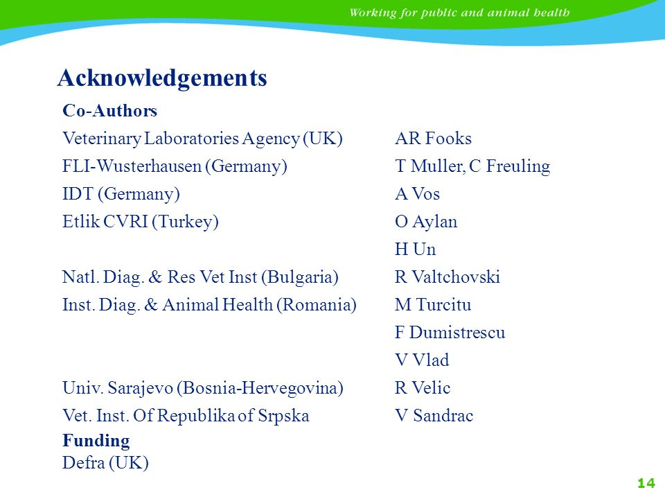 Acknowledgements Co-Authors