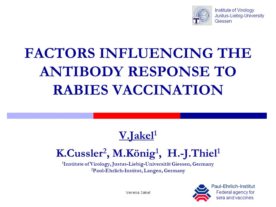 FACTORS INFLUENCING THE ANTIBODY RESPONSE TO RABIES VACCINATION