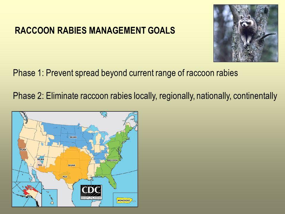 RACCOON RABIES MANAGEMENT GOALS