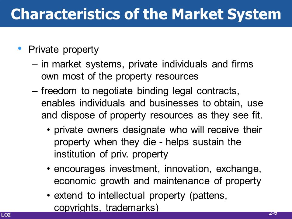 Private Property Rights Coupled With The Freedom To Negotiate