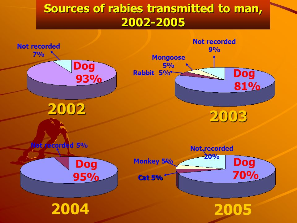 Sources of rabies transmitted to man, 2002-2005