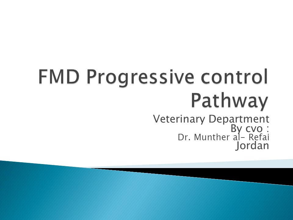 FMD Progressive control Pathway