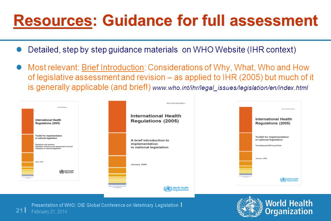 Resources: Guidance for full assessment