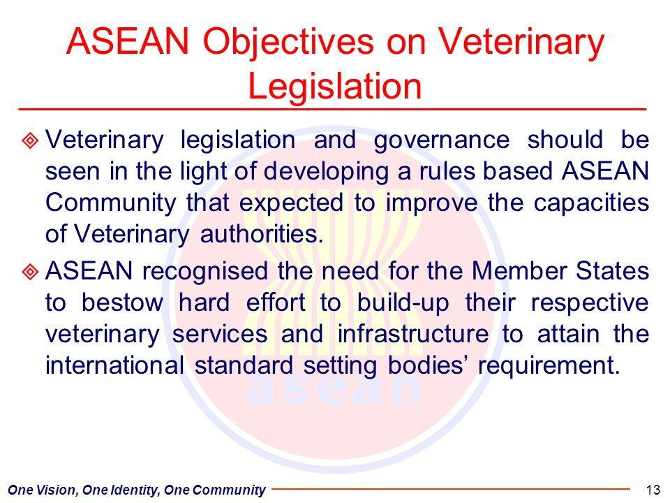ASEAN Objectives on Veterinary Legislation