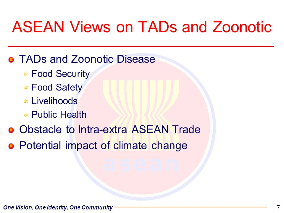 ASEAN Views on TADs and Zoonotic