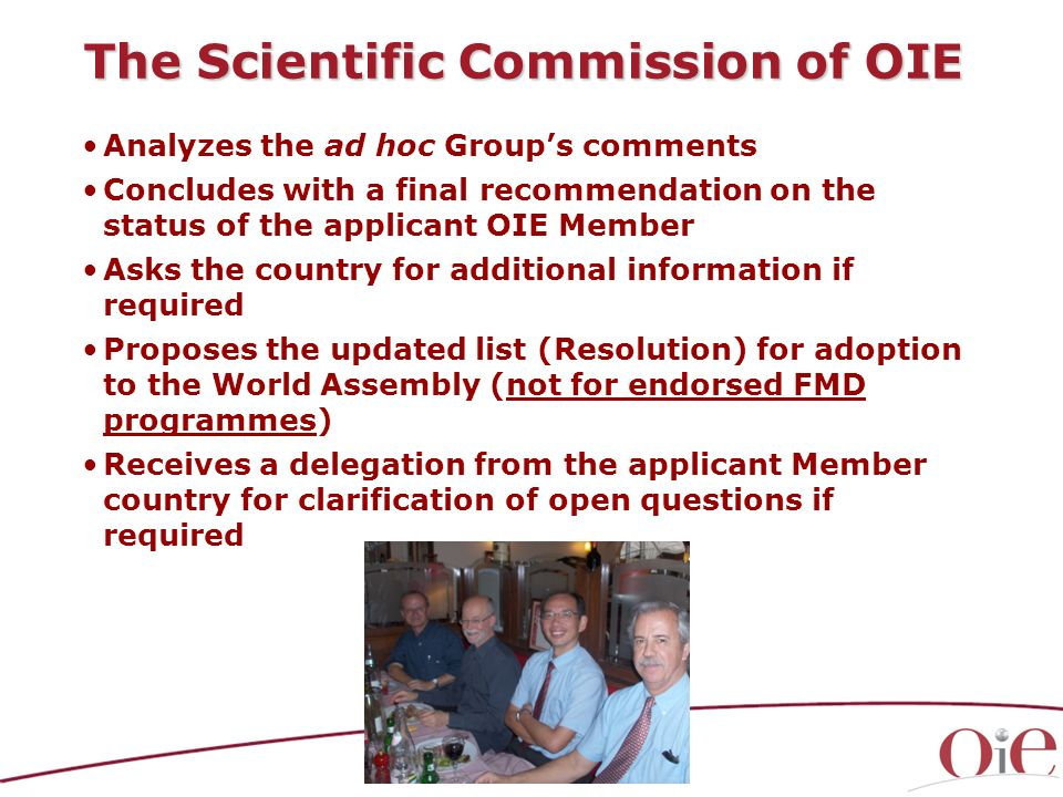 The Scientific Commission of OIE