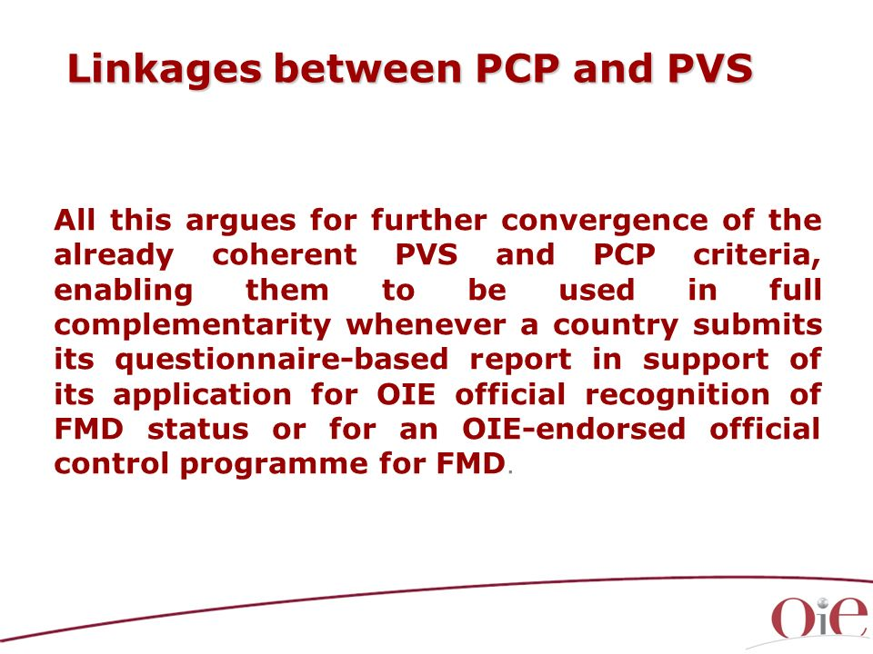 Linkages between PCP and PVS