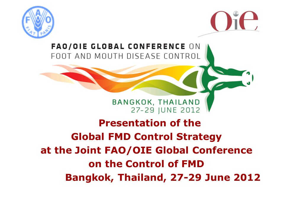 Global FMD Control Strategy at the Joint FAO/OIE Global Conference
