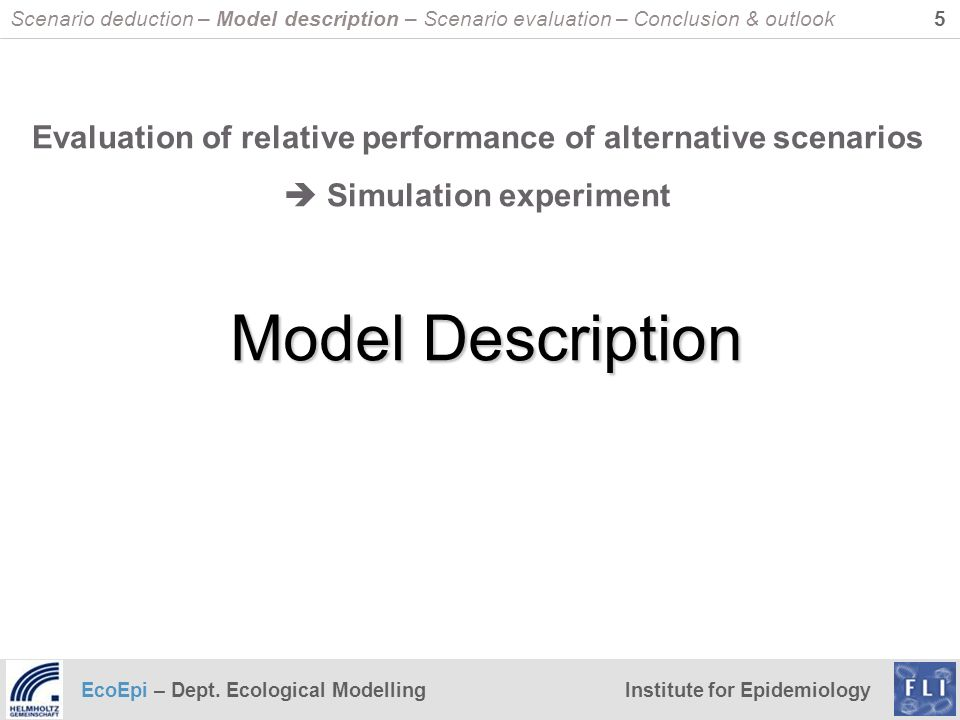 Scenario deduction – Model description – Scenario evaluation – Conclusion & outlook