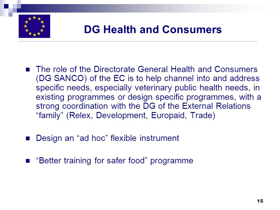 DG Health and Consumers