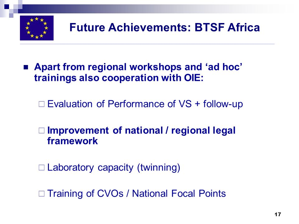 Future Achievements: BTSF Africa