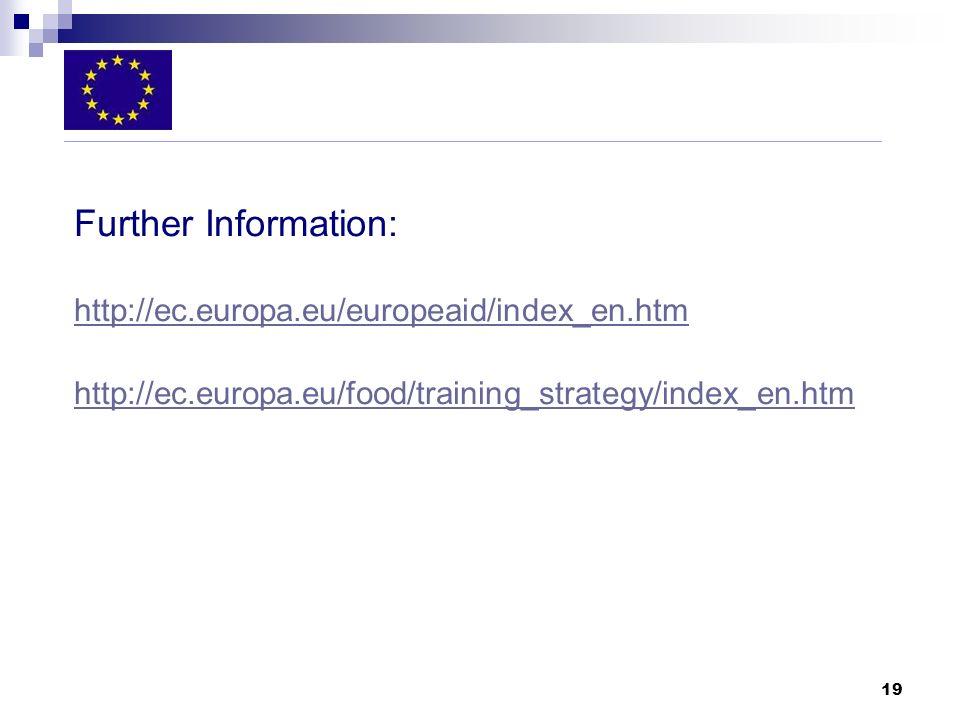 Further Information: http://ec.europa.eu/europeaid/index_en.htm