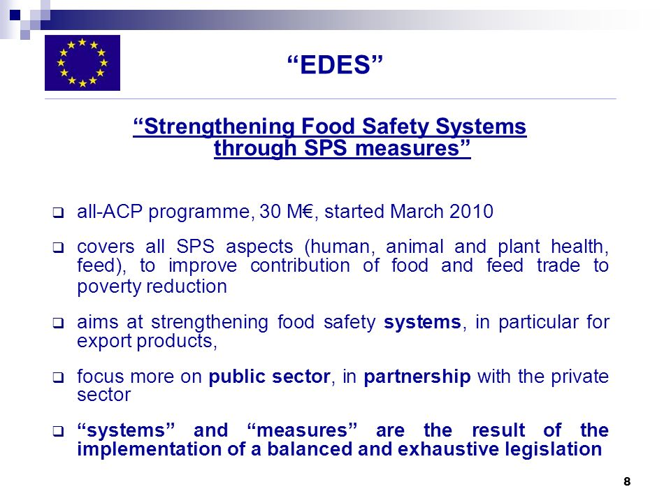Strengthening Food Safety Systems through SPS measures