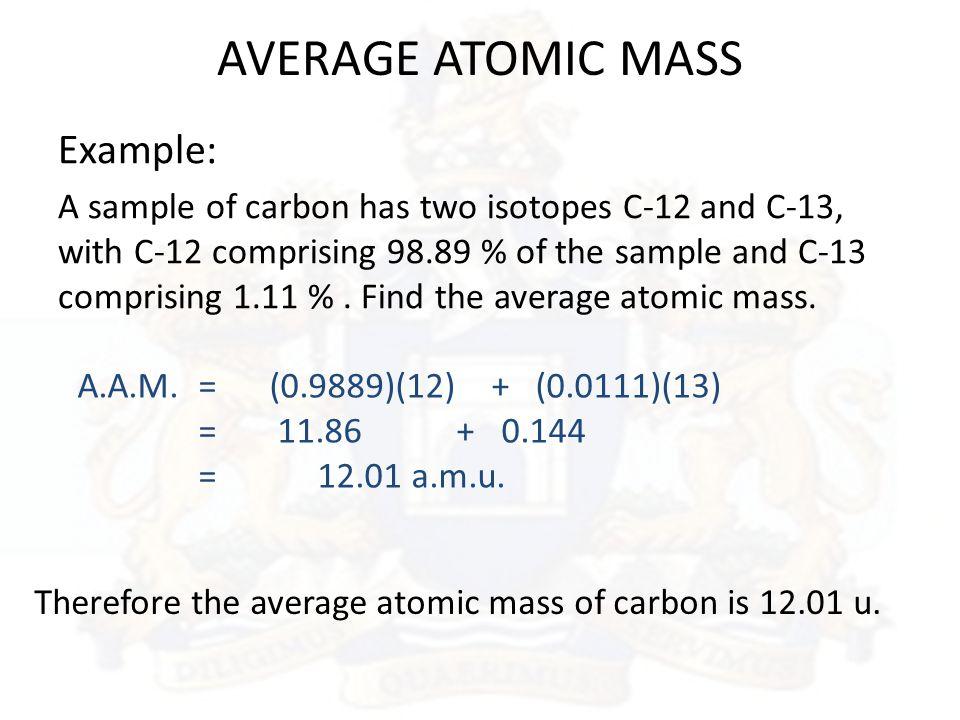 Isotopes average atomic mass ppt download 6 average urtaz Choice Image