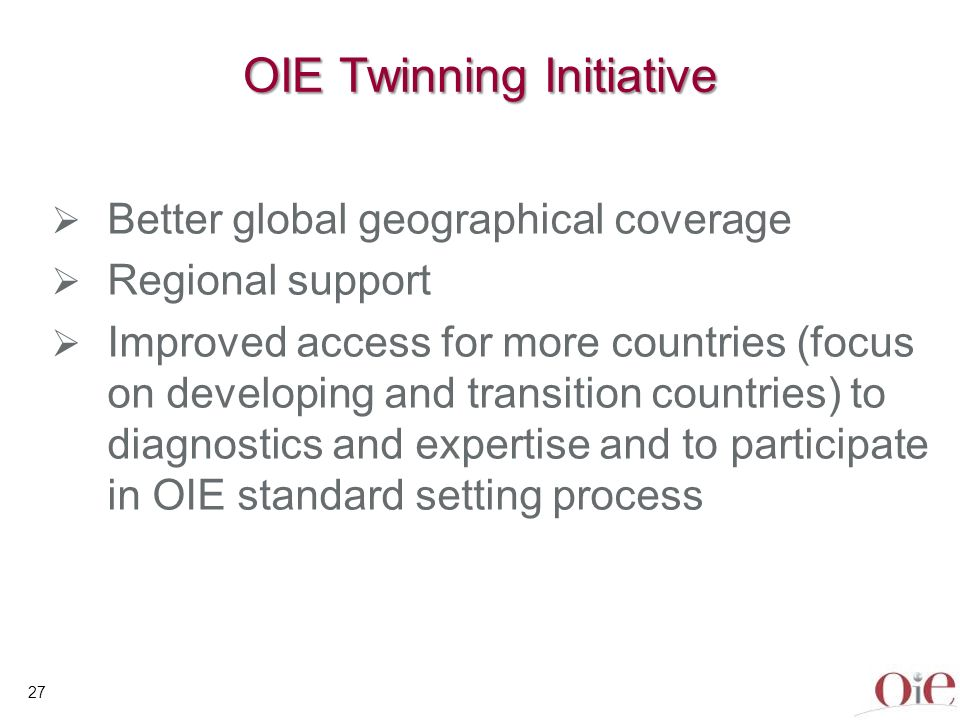 OIE Twinning Initiative
