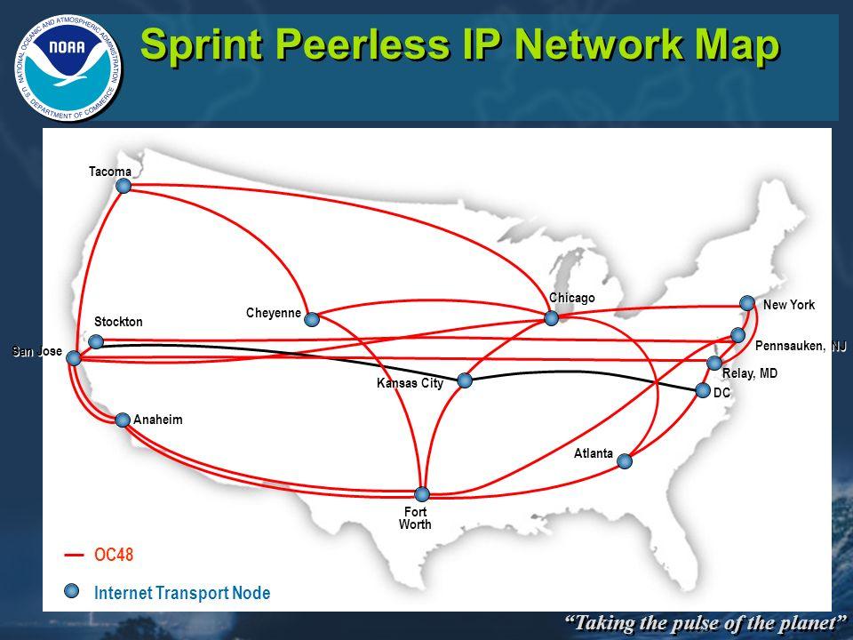 Sprint Peerless IP Network Map