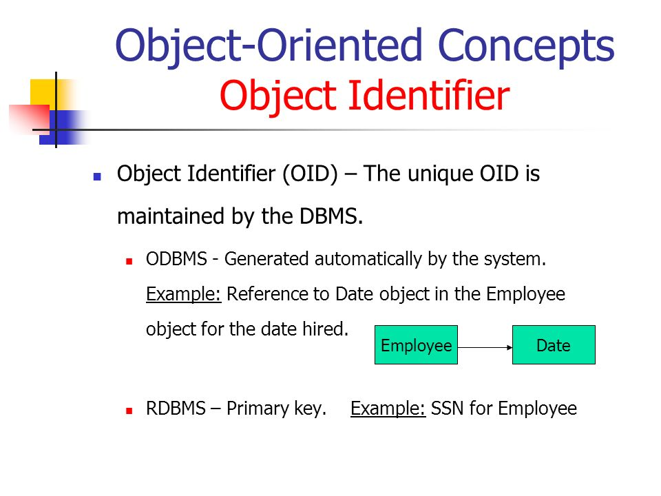 Object-Oriented Concepts Object Identifier