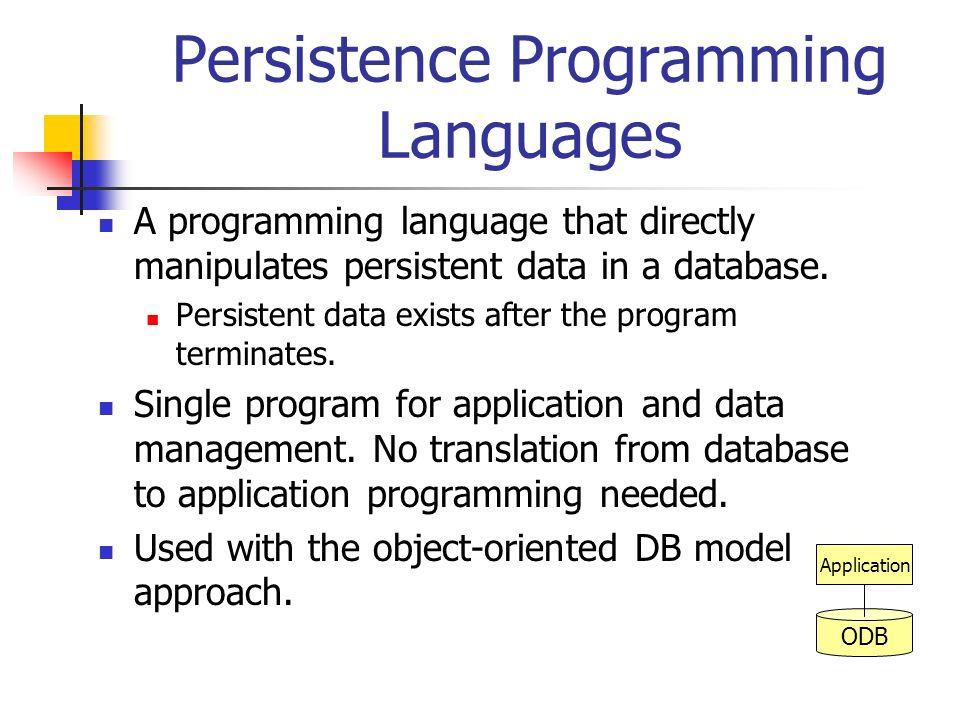 Persistence Programming Languages