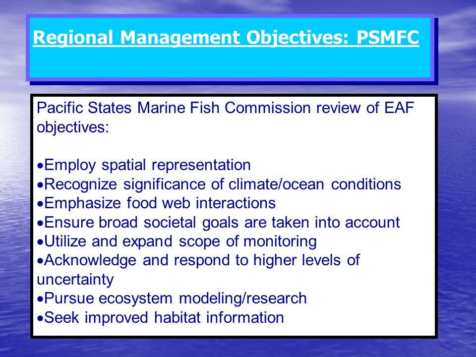 Regional Management Objectives: PSMFC