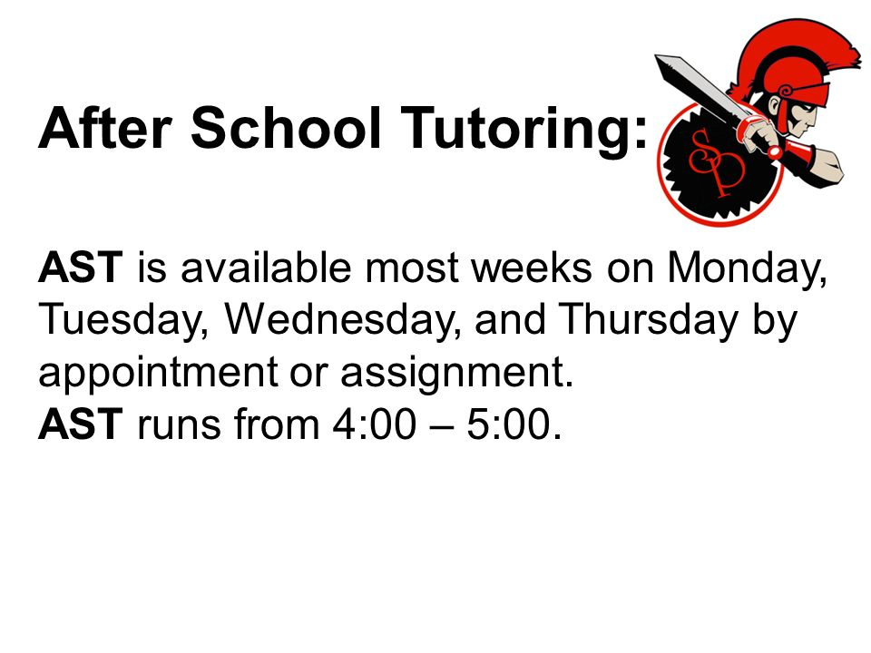After School Tutoring: