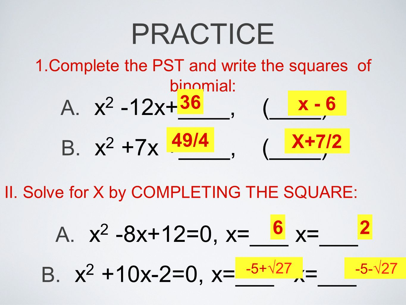 Completing the Square. - ppt video online download
