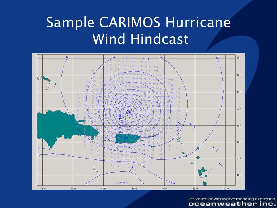 Sample CARIMOS Hurricane Wind Hindcast
