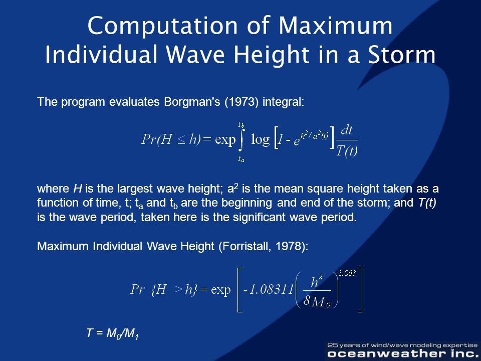 Computation of Maximum Individual Wave Height in a Storm