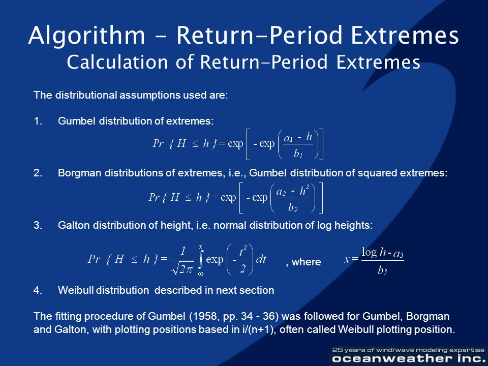 Algorithm - Return-Period Extremes Calculation of Return-Period Extremes