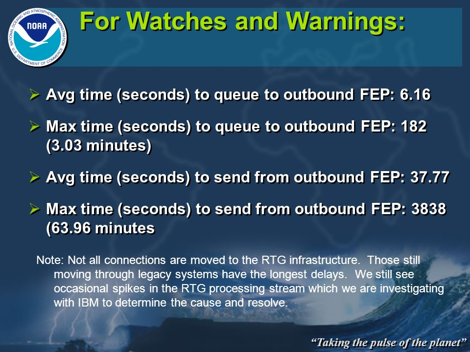 For Watches and Warnings: