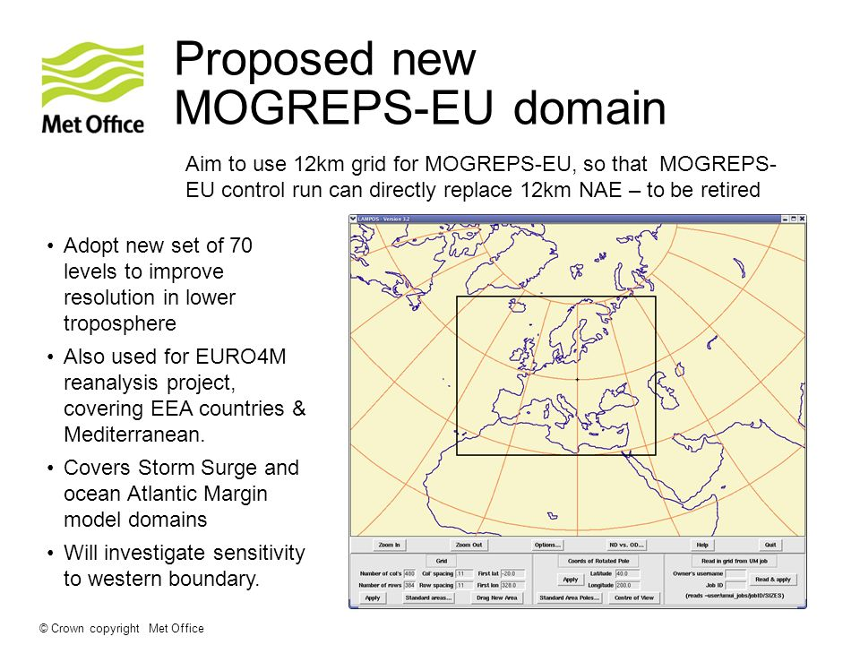 Proposed new MOGREPS-EU domain
